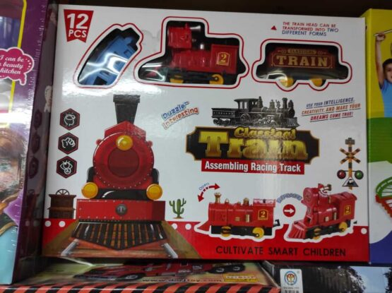 Игрушечный поезд — 12 деталей