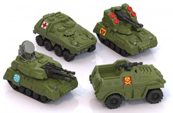 Военная серия мини 4 шт