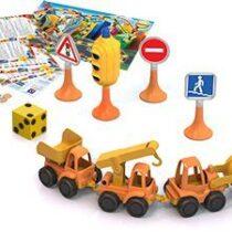 Yol işarələri və inşaat maşınları