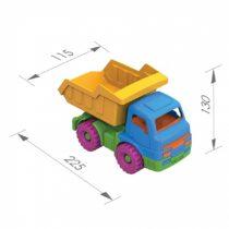 """Популярная линейка сельхозмашинок отличается своей деталировкой, функциональностью и узнаваемостью. Ребенок знакомится с различными видами техники, их особенностями и принципом действия, развивают мелкую моторику, воображение, с их помощью можно моделировать различные игровые сценки. Устойчивые рельефные колеса и крепкий кузов позволяют выдержать достаточную нагрузку и перевезти игрушки или стройматериалы в пункт назначения. Кузов поднимаеся и опускается, колеса крутятся. Помимо самосвала серия включает в себя сеновоз """"Кузнечик"""" (арт. 036), экскаватор """"Муравей"""" (арт. 048) и фургон """"Казачок"""" (арт. 038). *безопасный прочный пластик, четкая деталировка, яркие цвета, надежное крепление подвижных деталей, размер"""