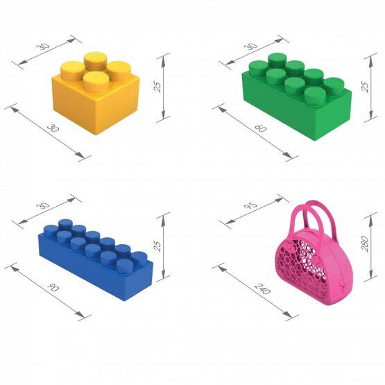 Сумка-корзинка с набором конструктора (52 дет.)