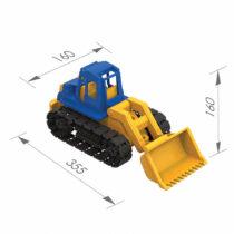 Greyderlə traktor oyuncaq